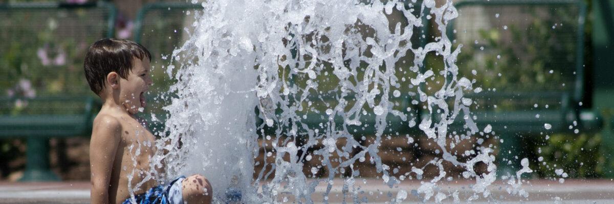 fountain plaza boy