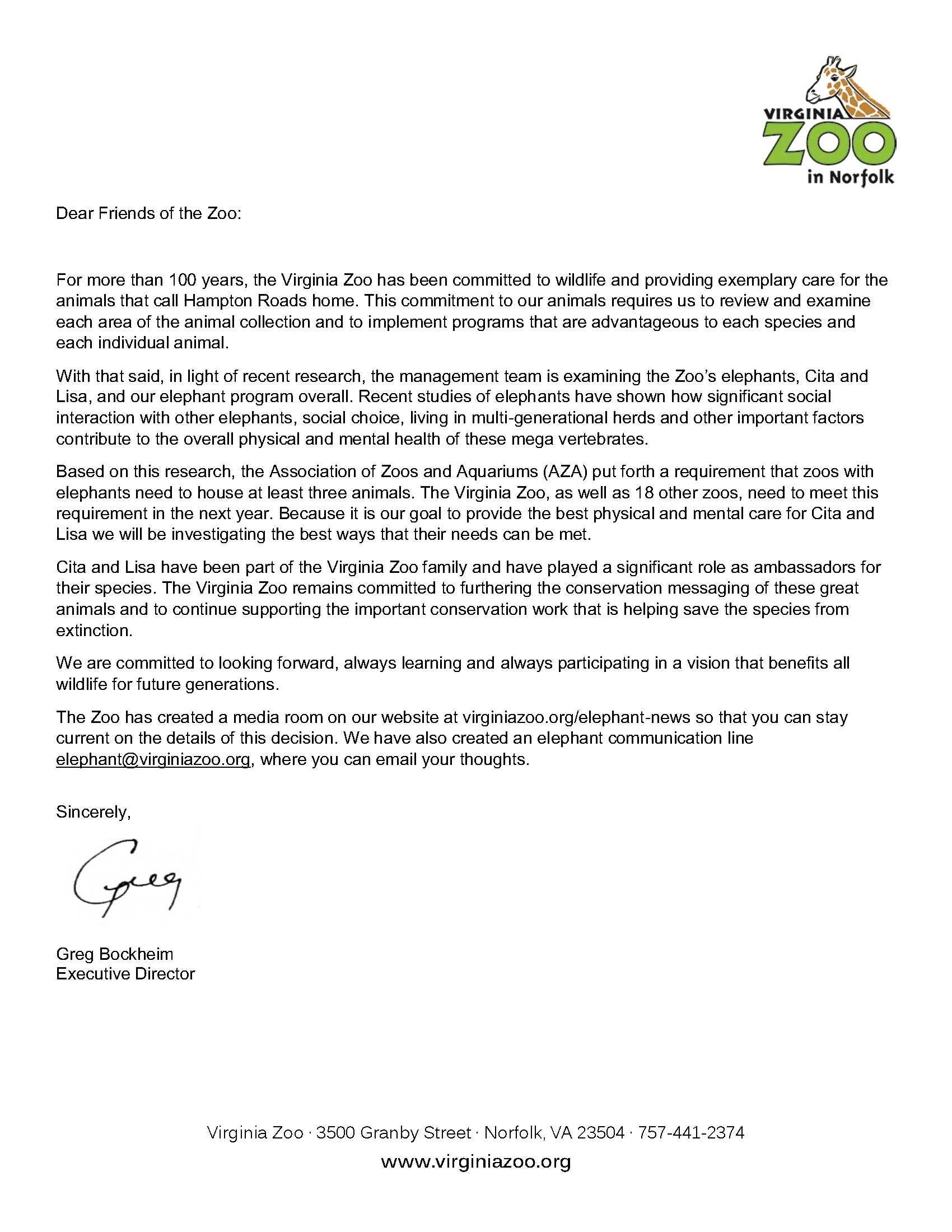 media letter from greg 5 13 15