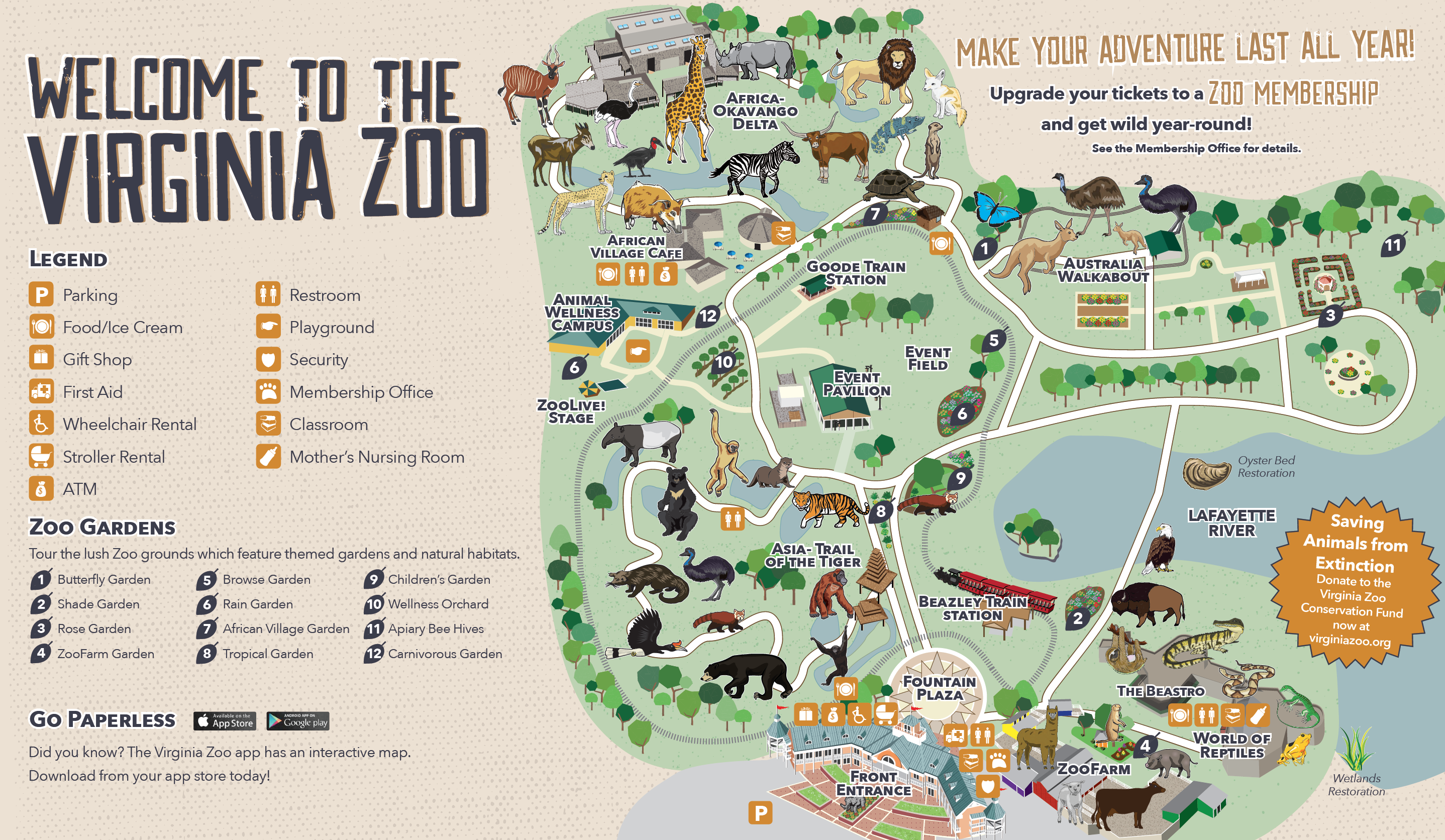 photograph regarding Printable Maps of Virginia referred to as Zoo Map - Virginia Zoo within Norfolk