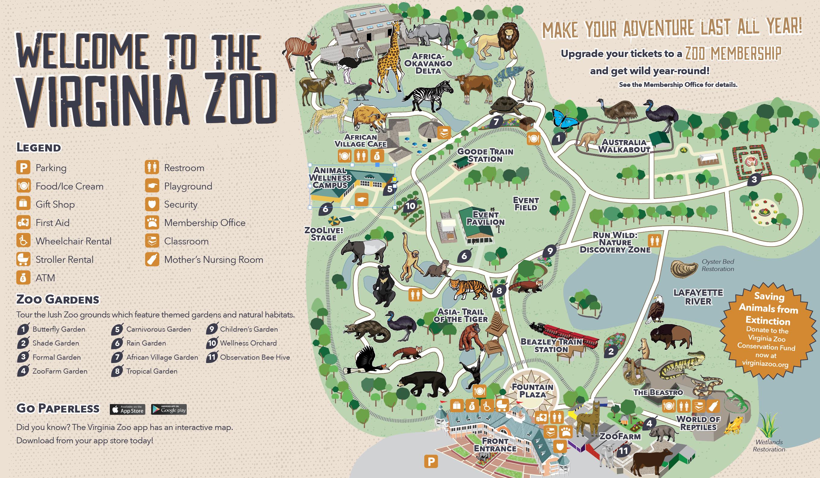 Zoo Map - Virginia Zoo in Norfolk