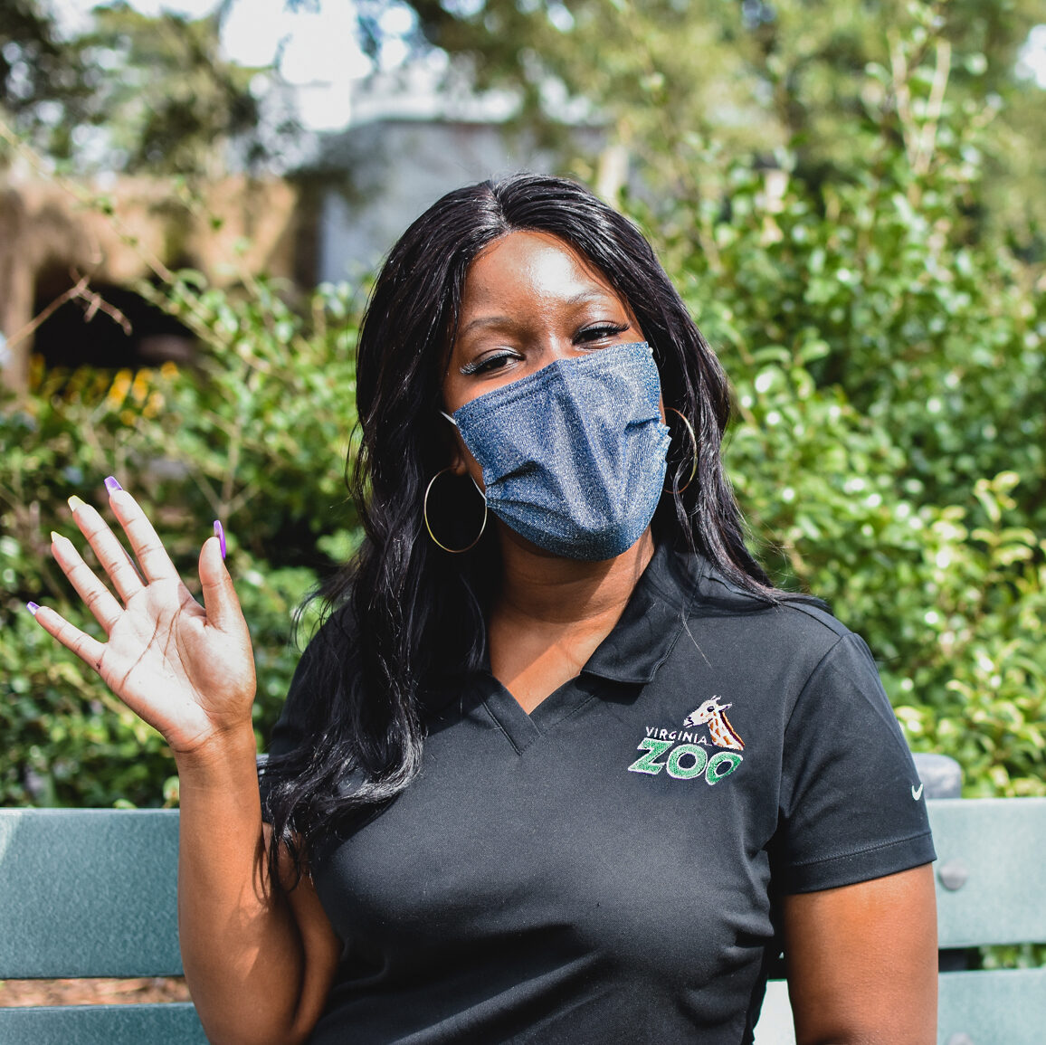 zoo employee waving